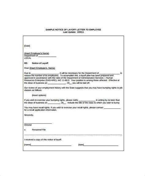 Employee Reference Letter After Layoff  Resume Pdf Download