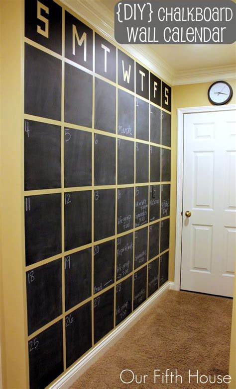 diy chalkboard walls chalkboard wall calendars that put your skills to the test