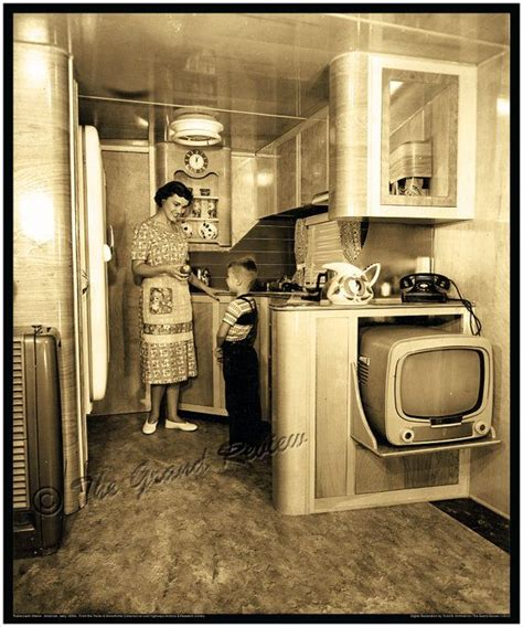 vintage home interiors vintage trailer print 1950s schult mobile home interior