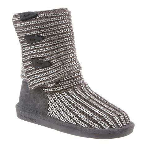 bearpaw knitted boots bearpaw knit metallic 14 inch s boots