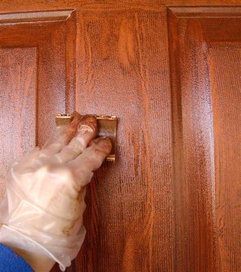 paint colors look like wood front door redo using faux wood grain technique living