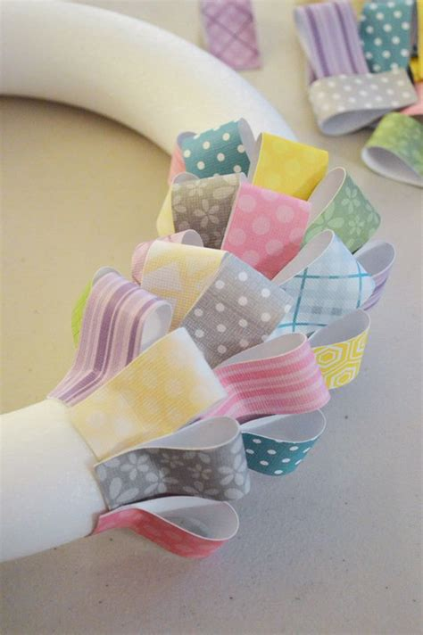 cardstock paper craft ideas paper easter wreath dinations colorcore cardstock