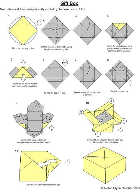 how to make simple origami box membuat kotak kado dengan origami hobykita