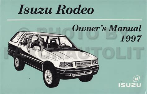car owners manuals free downloads 1995 isuzu rodeo regenerative braking isuzu rodeo owners manual truthupload