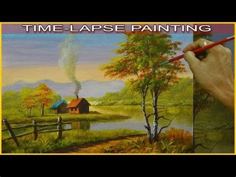 bob ross painting time lapse view all jm lisondra