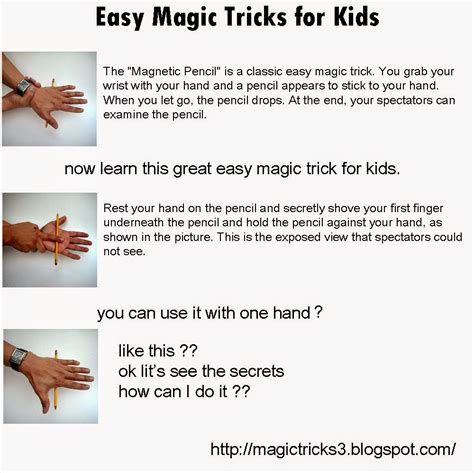Magic Tricks Easy Magic Tricks For Magnetic Pencil