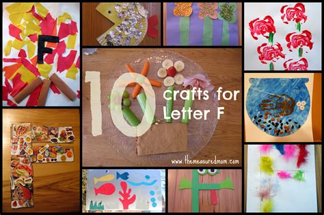 collage crafts for letter f crafts the measured