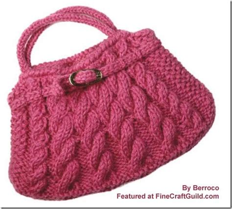 knit bag pattern adorable cable knit bag w buckle knitting patterns free