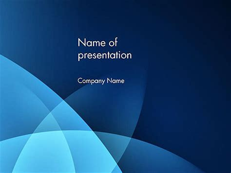 abstract blue background with smooth lines powerpoint
