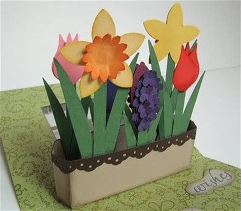 how to make a pop up flower card flower pop up box card tutorial at post