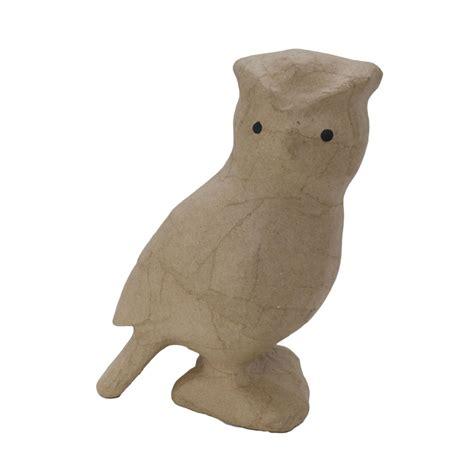 papier mache animals for decoupage decopatch sa127 decoupage papier mache animal small owl