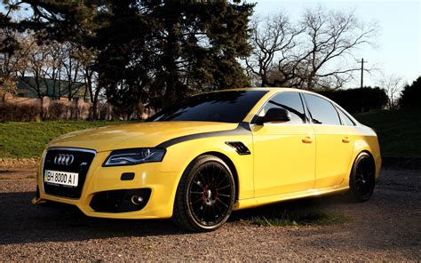 Best Car Wallpapers In Color audi a4 yellow color car wallpaper cars wallpaper better