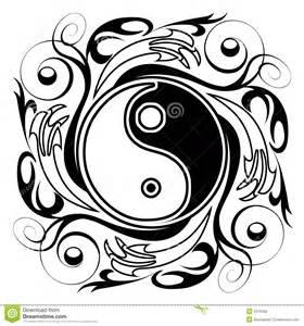 yin amp yang tatoo vector illustratie afbeelding bestaande