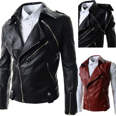 cool leather jackets for 2015 fashion cool fashion zips detachable sleeve pu leather jacket waistcoat auto motor
