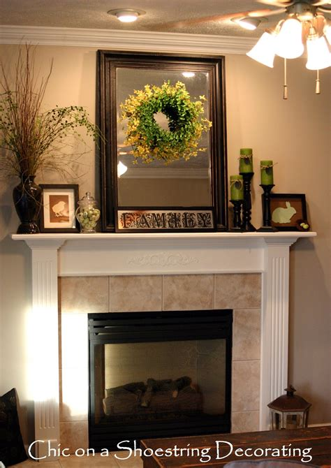 mantle decor chic on a shoestring decorating easter mantel on the cheap