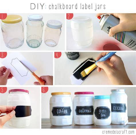 chalkboard paint glass jars diy chalkboard label jars
