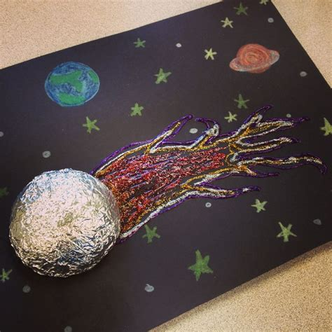 space craft ideas for comet craft use black construction paper
