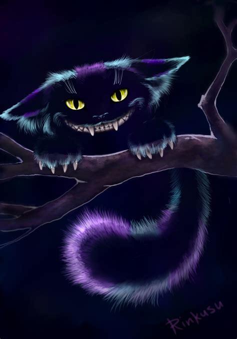 evil cat painting cheshire cat by ooyamaneko on deviantart