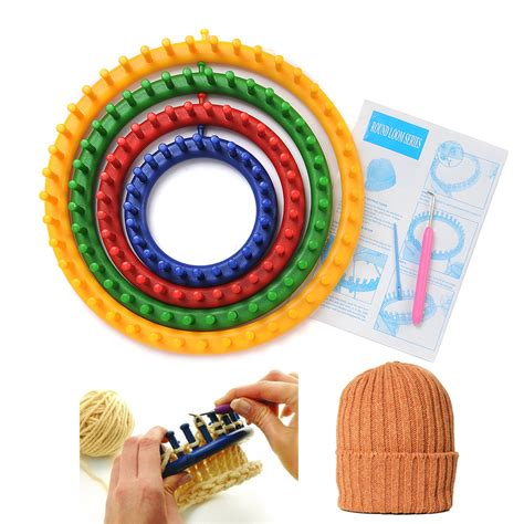 yarn crafts for without knitting easy pompom flower scarf hat maker loom needle knitting