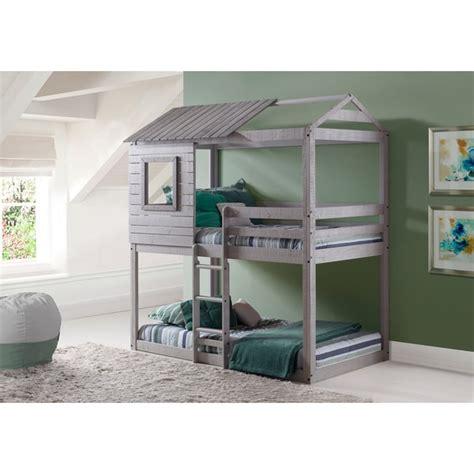 loft style bunk beds donco loft style light grey bunk bed