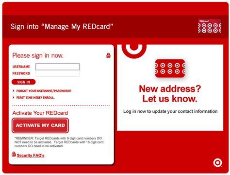Target Card Credit Card Login Make A Payment