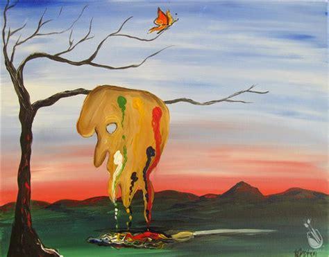 paint with a twist richboro salvador dali s birthday fluid imagination thursday