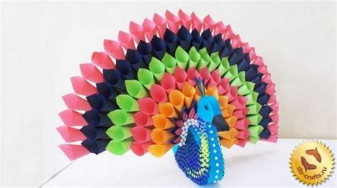 crafts with colored paper diy crafts how to make a peacock out of colored paper