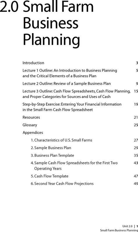 farm business plan templates download free amp premium