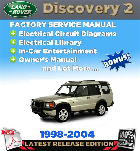 free online car repair manuals download 2004 land rover discovery electronic throttle control 1998 2004 land rover discovery 2 service repair manual workshop wiring owner s ebay