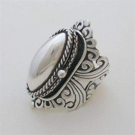 silver jewelry taxco sterling silver poison ring