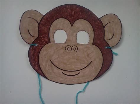 monkey paper plate craft the weekly craft monkey mask