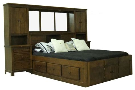 pier wall bedroom furniture shaker pier wall and platform bed transitional