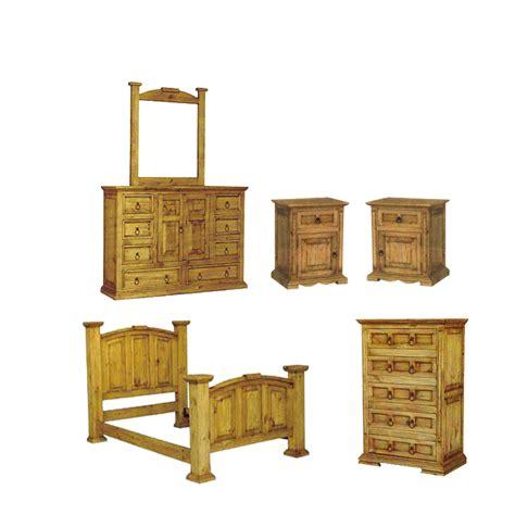 rustic pine bedroom furniture san carlos rustic pine bedroom set
