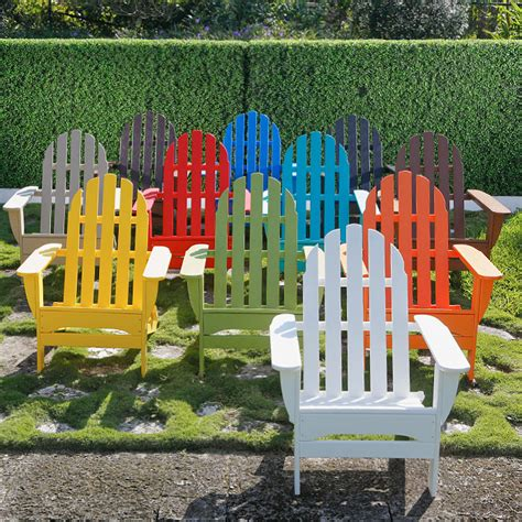 Colored Plastic Adirondack Chairs polywood benches outdoor suncast outdoor patio bench