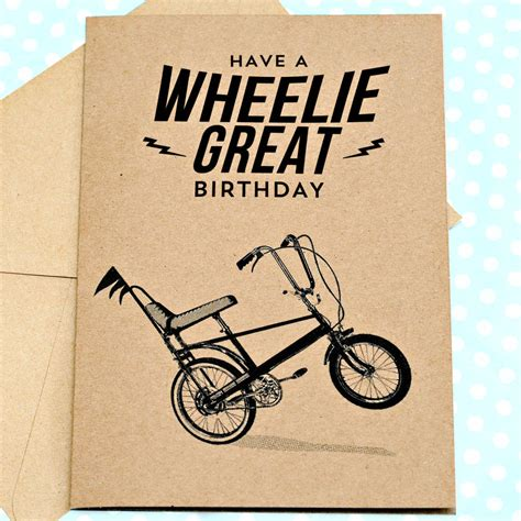 how to make a great birthday card wheelie great retro birthday card by papergravy