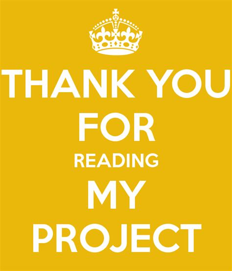 my reaing thank you for reading my project poster bob keep calm
