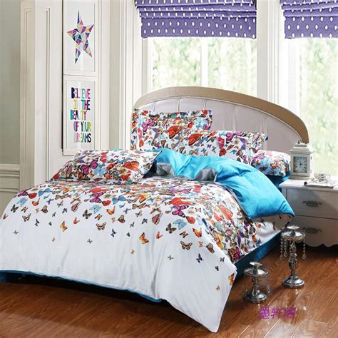 butterfly bed sets cotton butterfly comforter cover set bedspread