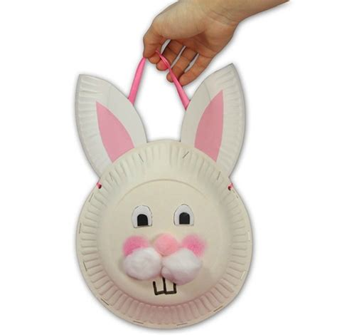 easter kid craft ideas easter bunny basket made of paper plates easter craft