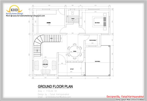house layout design home plan and elevation 1983 sq ft kerala home design and floor plans