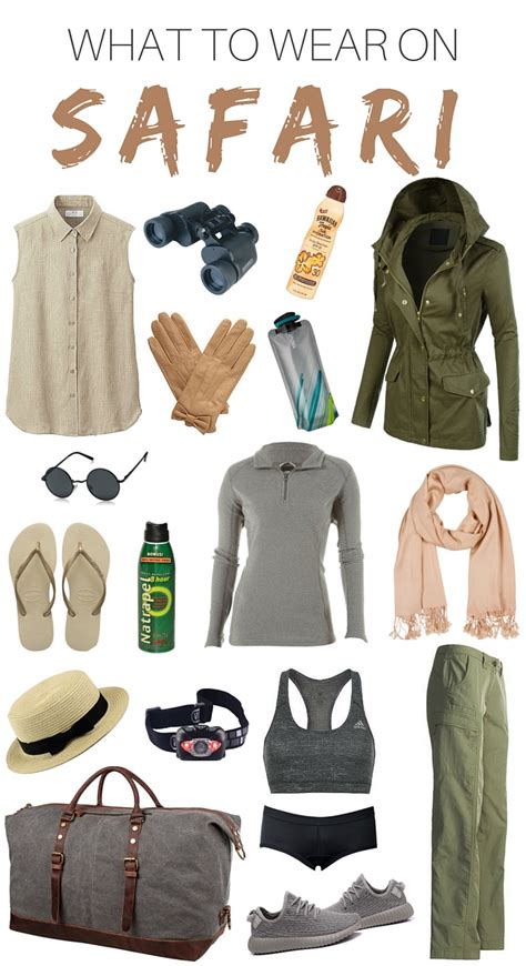 what to wear in what to wear on safari packing list