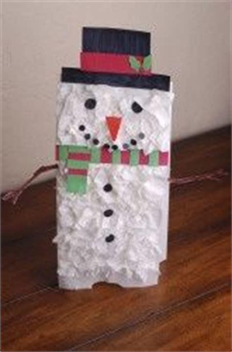 paper bag snowman craft 10 best images about paper bag crafts on
