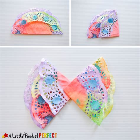 doily crafts for beautiful painted butterfly doily craft for