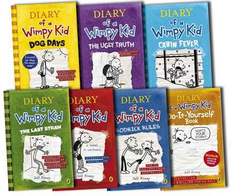 Diary Of A Wimpy Kid Collection 7 Books Set Jeff Kinney
