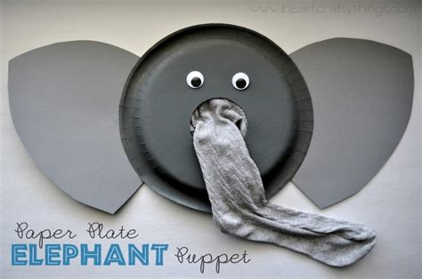 paper plate elephant craft paper plate elephant puppet tutorial i crafty things