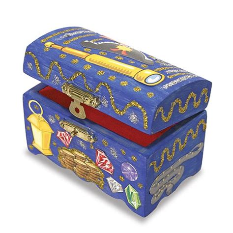 treasure chest craft for decorate your own wooden treasure chest craft
