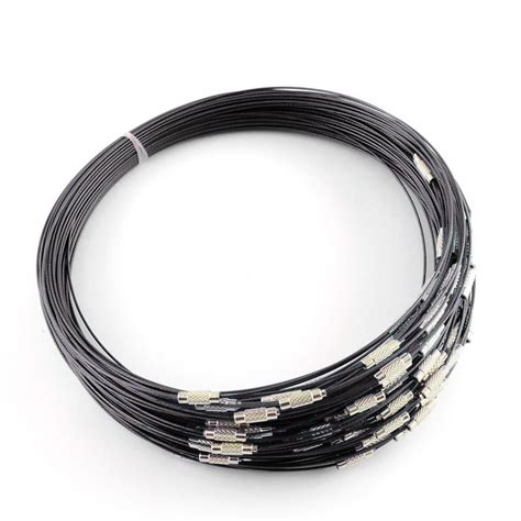 stainless steel wire for jewelry 10strand stainless steel wire necklace cord brass