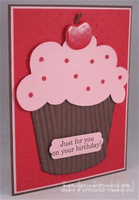 easy birthday card ideas simple birthday thanks cupcake ink it up with