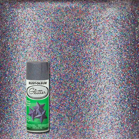 home depot spray paint for glass rust oleum specialty 10 25 oz purple glitter spray paint