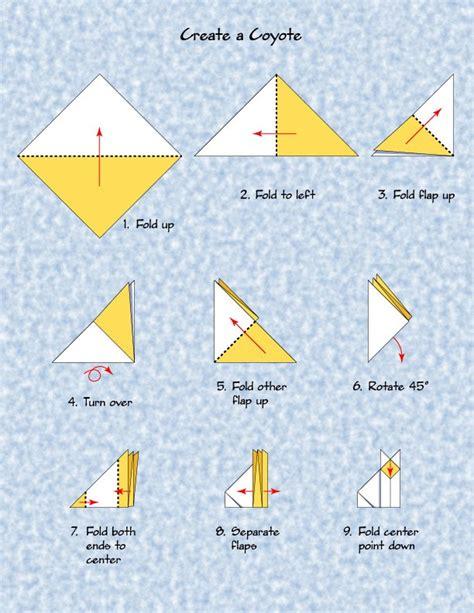 origami storytelling coyote origami