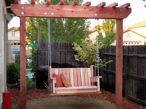 diy backyard swing diy outdoor swings for relaxing in the garden